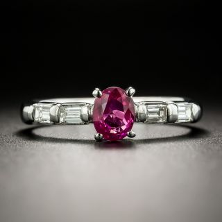 Estate .81 Carat Ruby and Diamond Ring - 2