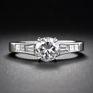 Estate .85 Carat Diamond Engagement Ring - 1