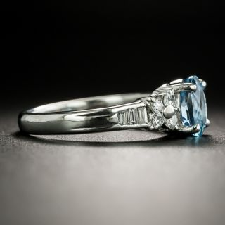 Estate .86 Carat Aquamarine and Diamond Ring