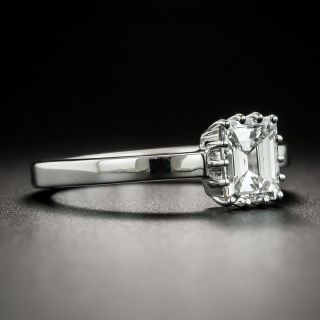 Estate .90 Carat Emerald-Cut Diamond Solitaire Engagement Ring - GIA E VS1