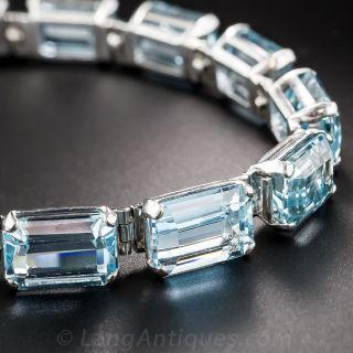 Estate Aquamarine Bracelet - 1