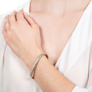 Estate Baguette Diamond Bracelet