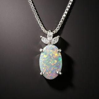 Estate Black Opal and Diamond Necklace - 3