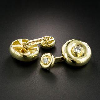Estate Cartier Diamond Cuff Links