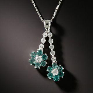 Estate Diamond and Alexandrite Negligee Daisy Pendant - 2
