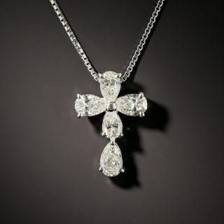 Estate Diamond Cross Pendant - 2