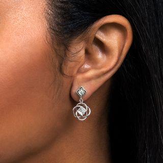 Estate Diamond Dangle Earrings
