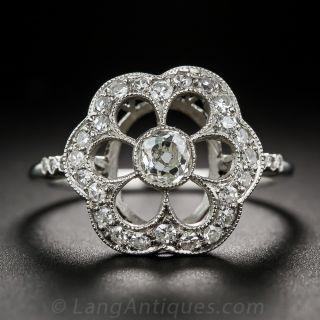 Estate Diamond Flower Ring - 1