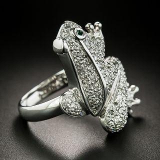 Estate Diamond Frog Ring