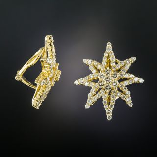 Estate Diamond Star Earrings - 1