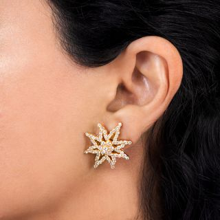 Estate Diamond Star Earrings