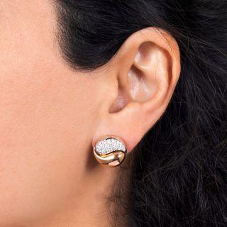 Estate Diamond Yin and Yang Earrings