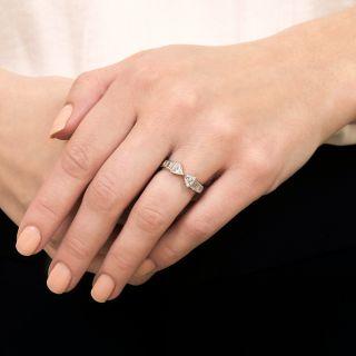 Estate Double Trillion-Cut Diamond Ring