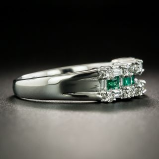 Estate Emerald and Diamond Band Ring