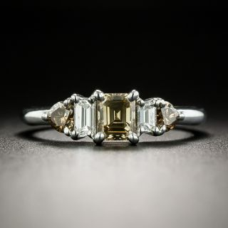Estate Fancy Brown and White Diamond Ring - 2