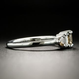 Estate Fancy Brown and White Diamond Ring