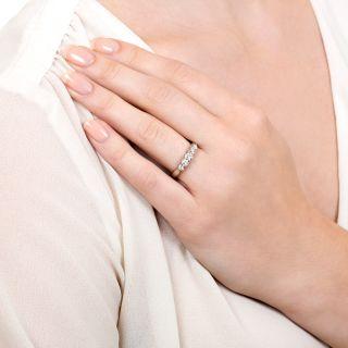 Estate Five-Stone Diamond Wedding Band
