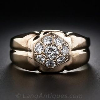 Estate Gent's Diamond Ring - 1