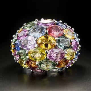 Estate Multi-Colored Sapphire Dome Ring - 2