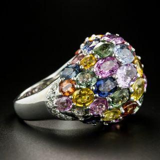 Estate Multi-Colored Sapphire Dome Ring