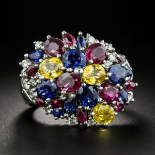 Estate Multi-Gem and Diamond Ring - 1