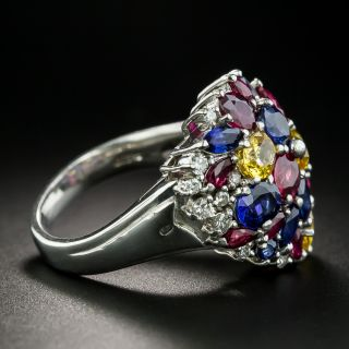 Estate Multi-Gem and Diamond Ring