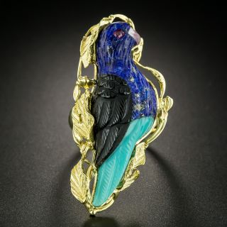 Estate Multi-Stone Parrot Ring - 2