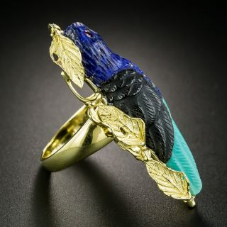 Estate Multi-Stone Parrot Ring