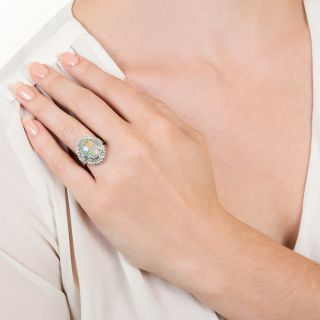 Estate Opal and Diamond Cocktail Ring