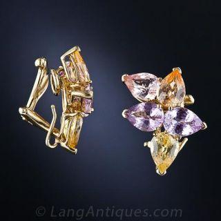 Estate Pastel Sapphire Earrings