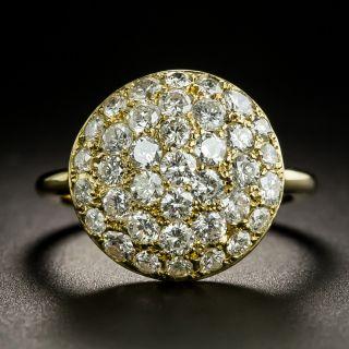 Estate Pave Diamond Dome Ring - 2