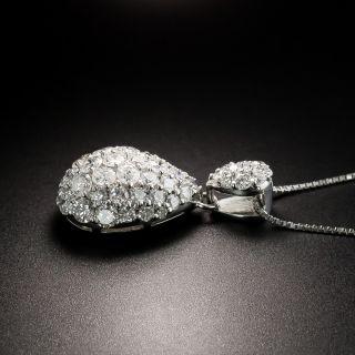 Estate Pavé Diamond Drop Necklace