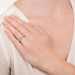 Estate Pavé Diamond Wedding Band, SIze 5 1/4