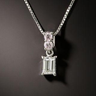 Estate Pink and White Diamond Pendant - 3