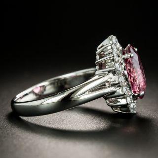 Estate Pink Tourmaline and Diamond Halo Ring