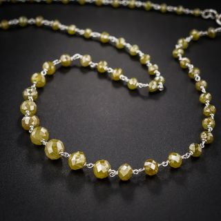 Estate Platinum and Natural Colored Diamond Necklace - 2