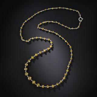 Estate Platinum and Natural Colored Diamond Necklace