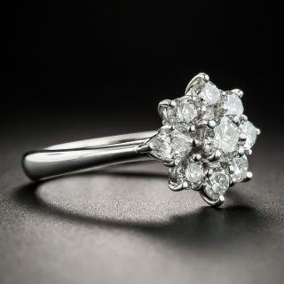 Estate Platinum Diamond Cluster Ring