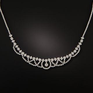 Estate Platinum Diamond Necklace - 1