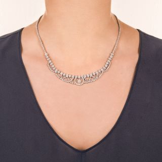 Estate Platinum Diamond Necklace