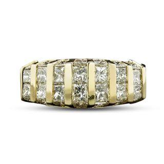 Estate Princess-Cut Diamond Band Ring - 2
