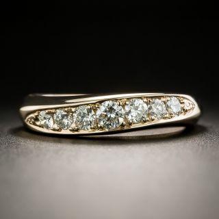 Estate Rose Gold Diamond Wedding Band - 2