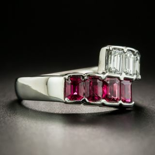 Estate Ruby and Diamond Bypass Band