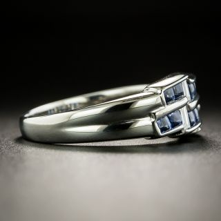 Estate Sapphire and Diamond Zig-Zag Ring