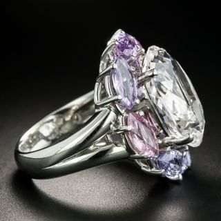 Estate Topaz and Multi-Colored Sapphire Cocktail Ring