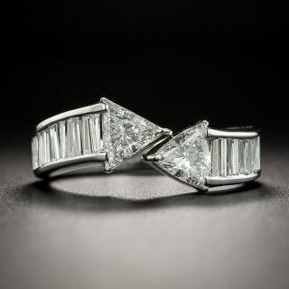 Estate Trillion-Cut Diamond Bypass Ring - 2