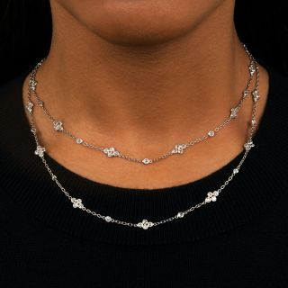 European-Cut Diamonds by the Yard Necklace