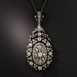 Exquisite Victorian Diamond Pendant Necklace - 2