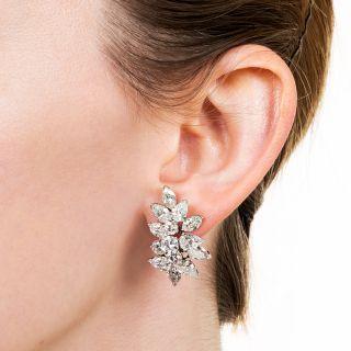 Fancy-Shaped Diamond Cluster Earrings