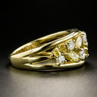 Fancy Yellow and White Diamond Band Ring